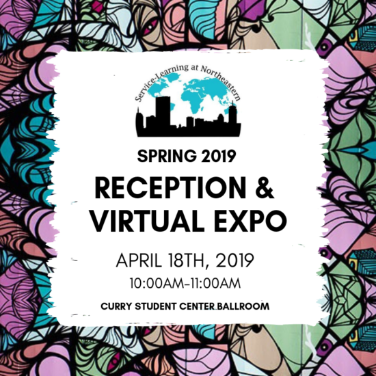 Reception and Virtual Expo flyer